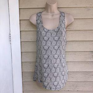 TART black/white racerback knit top/NWT